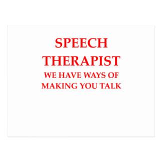speech therapy postcard