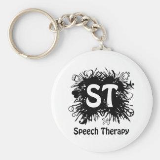 Speech Therapy splash Basic Round Button Keychain