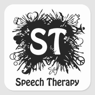 Speech Therapy splash Square Sticker