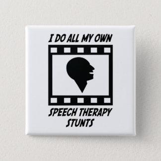 Speech Therapy Stunts Button