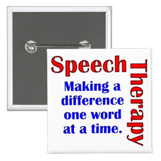 Speech Thereapy 2 Inch Square Button