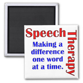 Speech Thereapy 2 Inch Square Magnet