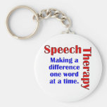 Speech Thereapy Basic Round Button Keychain