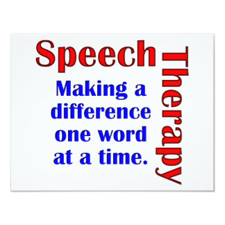Speech Thereapy 4.25x5.5 Paper Invitation Card