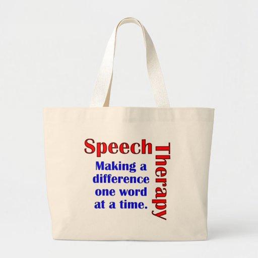 Speech Thereapy Jumbo Tote Bag