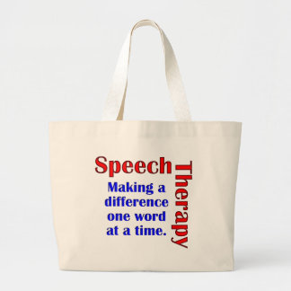 Speech Thereapy Large Tote Bag
