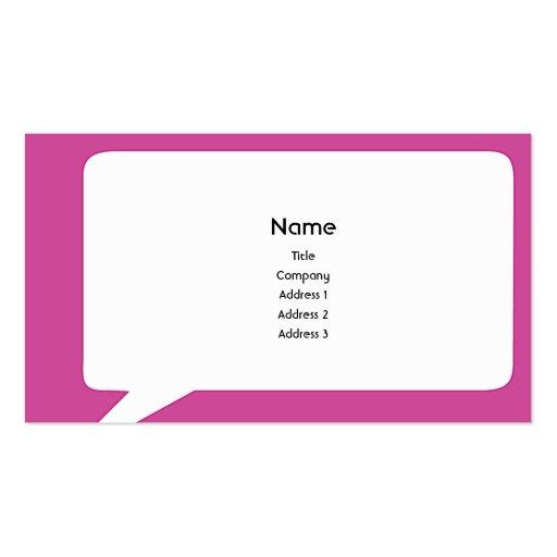 Speechbox - negocio tarjetas de visita