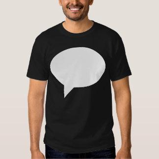 speechbubble02whiteondark01 tee shirt