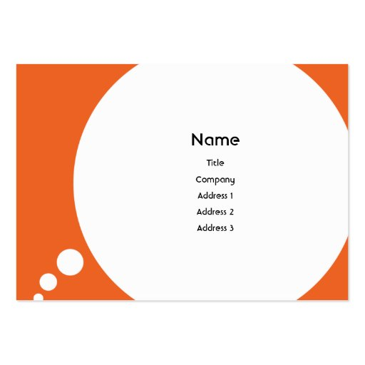 Speechbubble - Chubby Business Card Template