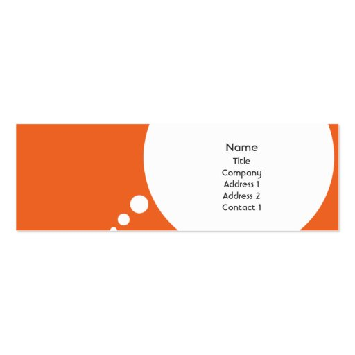 Speechbubble - Skinny Business Card