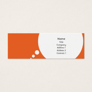 Speechbubble - Skinny Mini Business Card