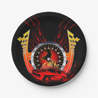 Speed and Horse Power Paper Plate