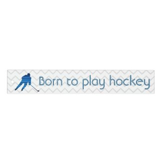 Speed blue player - Born to play hockey ruler