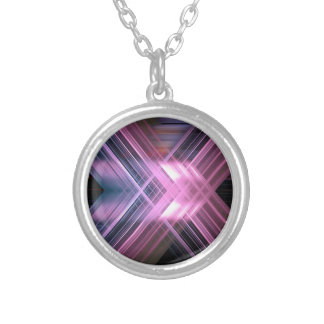 Speed blur cross silver plated necklace