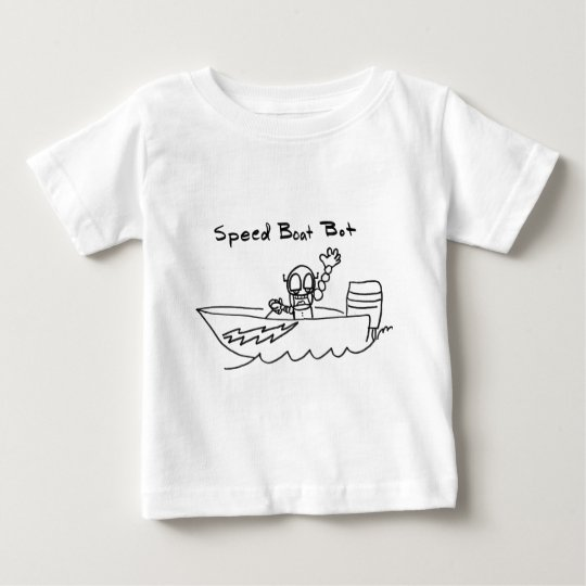 Speed Boat Bot Baby T-Shirt