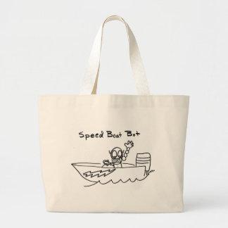 Speed Boat Bot Large Tote Bag