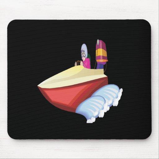 Speed Boat Mousepad