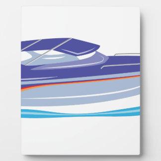 Speed Boat Plaque