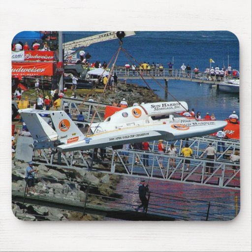 Speed Boats Cranes Mouse Mats