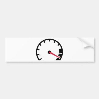 Speed car speedometer car bumper sticker