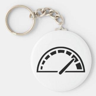 Speed car speedometer basic round button keychain
