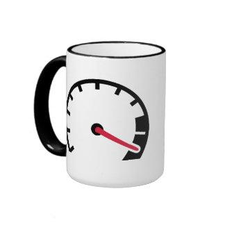 Speed car speedometer ringer mug