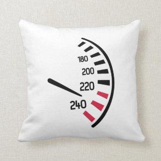 Speed car throw pillow
