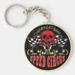 Speed Circus Basic Round Button Keychain