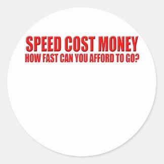 speed costs classic round sticker