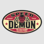 Speed Demon 003B Oval Sticker