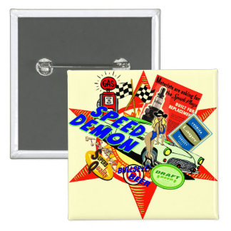 Speed Demon Baby Boomer 2 Inch Square Button