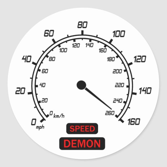 Speed Demon Classic Round Sticker