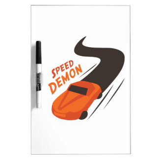 Speed Demon Dry Erase Whiteboards