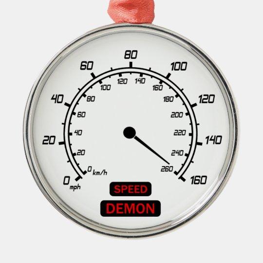 Speed Demon Metal Ornament