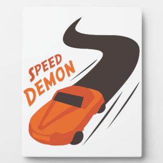 Speed Demon Photo Plaques
