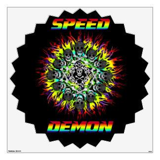 speed demon room decal