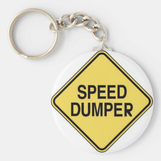 Speed Dumper Basic Round Button Keychain