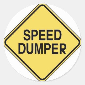 Speed Dumper Classic Round Sticker