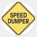 Speed Dumper Round Stickers