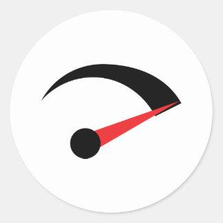 speed fast needle indicator classic round sticker