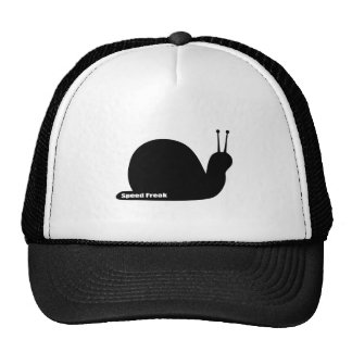 speed freak snail black trucker hat