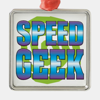 Speed Geek v3 Square Metal Christmas Ornament
