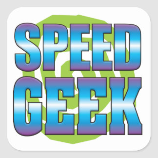 Speed Geek v3 Square Stickers
