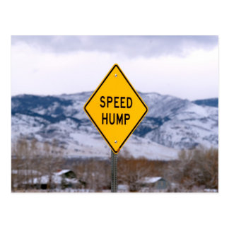 Speed Hump Postcard
