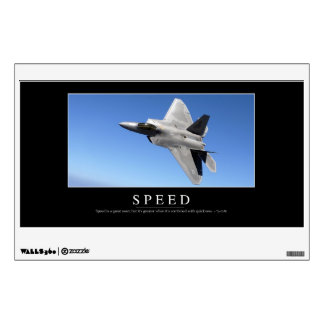 Speed: Inspirational Quote 2 Wall Decals