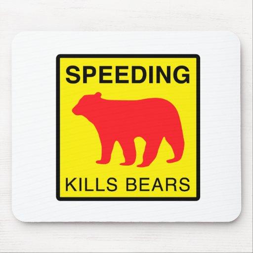 SPEED KILLS BEARS.ai Mousepad