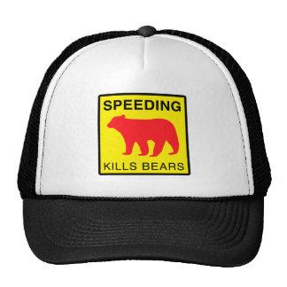 SPEED KILLS BEARS.ai Trucker Hat
