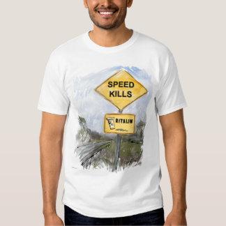 Speed Kills - White Shirt