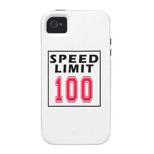 Speed limit 100 birthday designs iPhone 4/4S cover