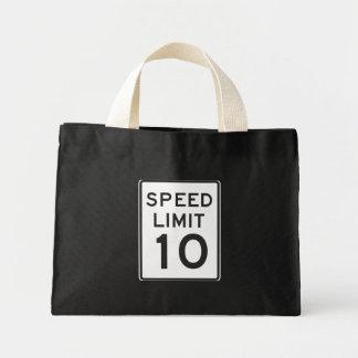 Speed Limit 10 Mini Tote Bag